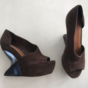 Anthropologie Leifsdottir Kateriina Wedges FLAWED